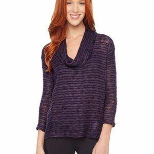 Splendid Fireside Cowl Neck Sweater XS Purple